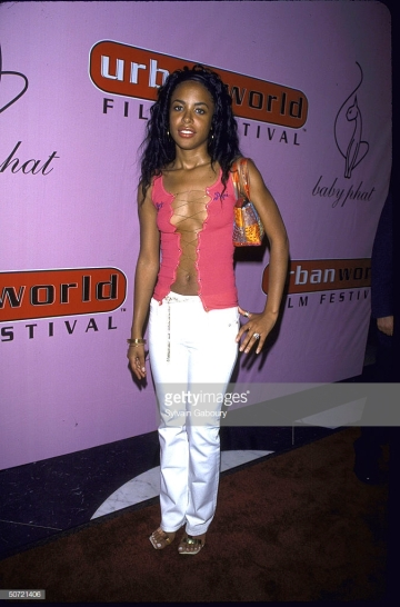 Singer/actress Aaliyah at Urbanworld Film Festival. (Photo by Sylvain Gaboury/DMI/The LIFE Picture Collection/Getty Images)